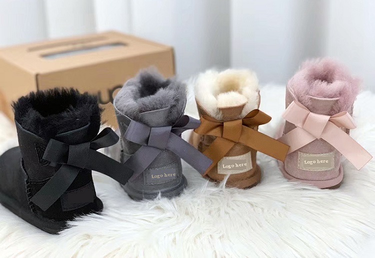 oem high quality kids snow boots with bows snow boots kids winter warm childrens shoes waterproof7