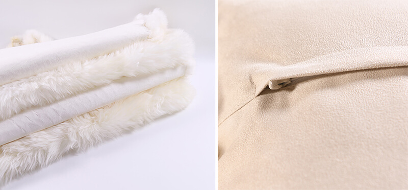 oem odm wholesale eco friendly long wool sheepskin rug mixed color pillow for living room 45 45cm10