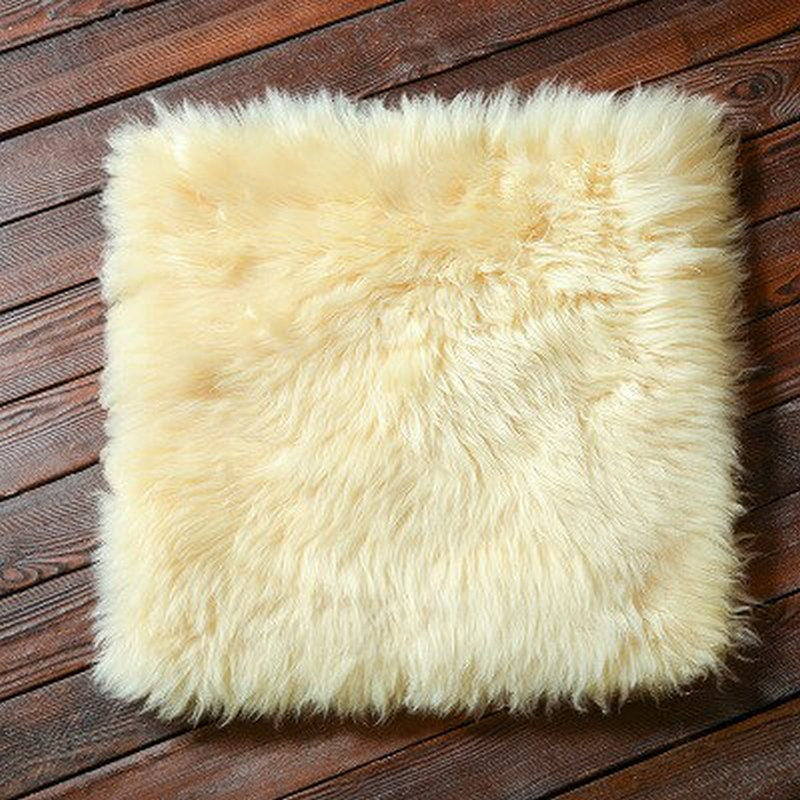 square fur sheepskin chair cover seat cushion pad super soft area rugs for living bedroom sofa11