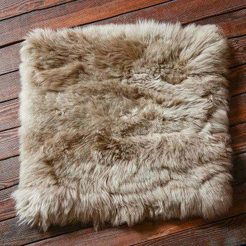 square fur sheepskin chair cover seat cushion pad super soft area rugs for living bedroom sofa12