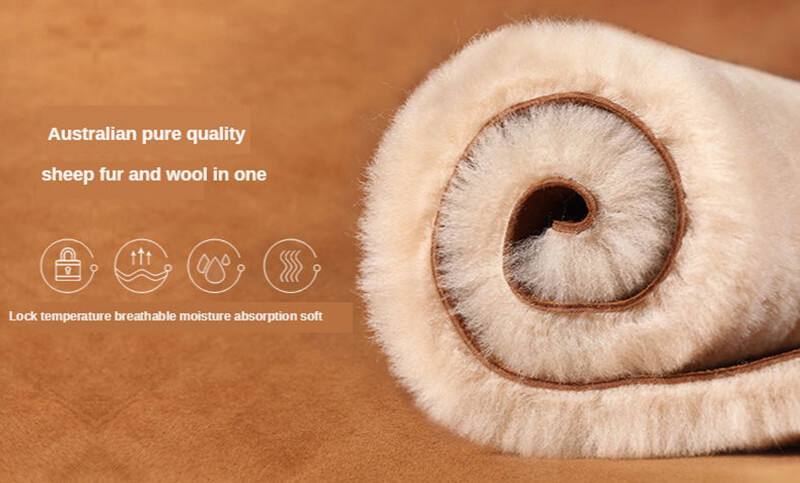 square shaped real australia sheepskin rug pillow t for home use 30 50cm13