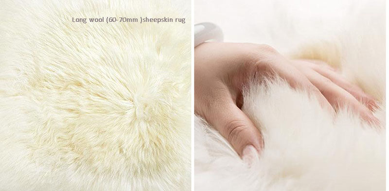 square shaped real australia sheepskin rug pillow t for home use 30 50cm6